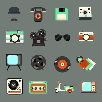 Vintage, retro icon Premium Vector