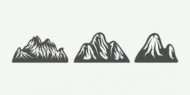 Vintage retro mountains