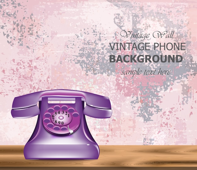 Vintage retro phone background