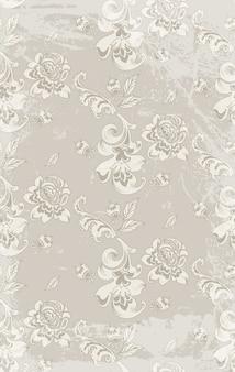 Vintage retro roses damask pattern