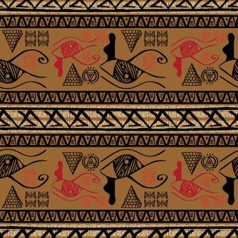 Vintage retro stripped egypt pattern