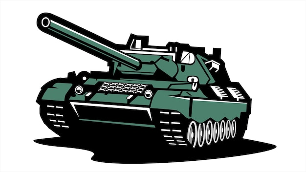 Vintage and retro tank logo, flat illustration vector