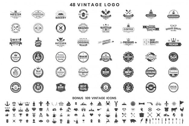 Vintage retro vector badges