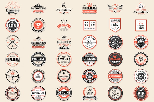 Vintage retro vector logo для баннера