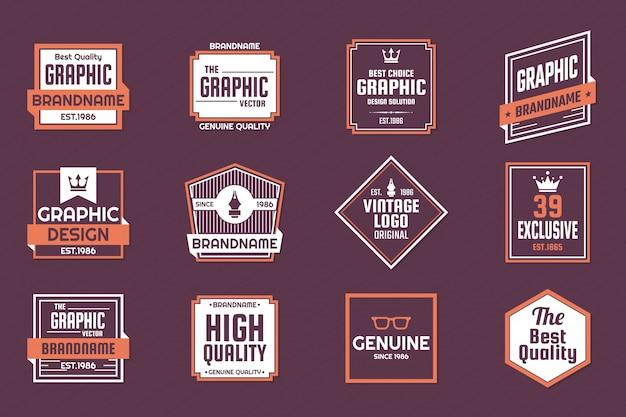 Vintage retro vector logo