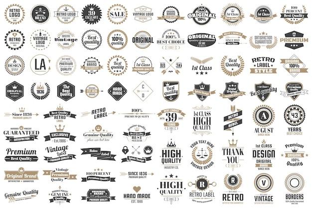 Vintage retro vectorロゴ、バナー、ポスター、전단