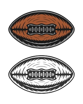 Vintage retro woodcut american football rugby ball can be used like emblem logo badge label