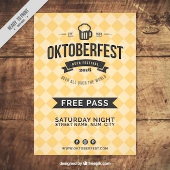 Vintage rhombus poster of oktoberfest