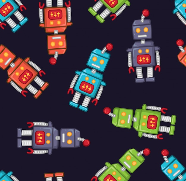 Vintage robot background