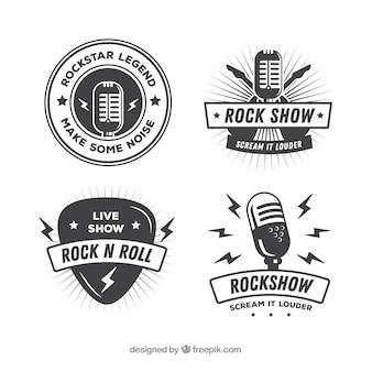 Коллекция vintage rock logo
