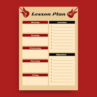 Vintage rock and roll lesson plan