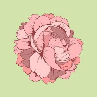 Simbolo di disegno del tatuaggio flash vintage rosa vecchia scuola vintage