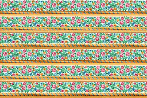 Vintage rose pattern background vector