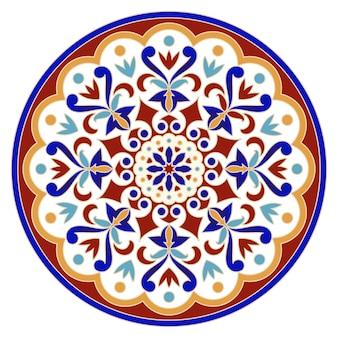 Vintage round mandala