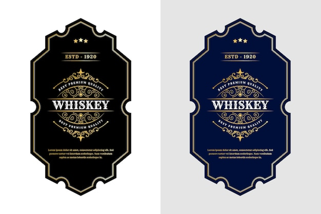 Vintage royal luxury labels and packaging design.