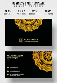 Vintage royal style business card template