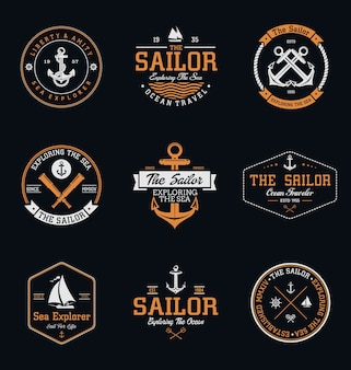 Vintage sailor badges