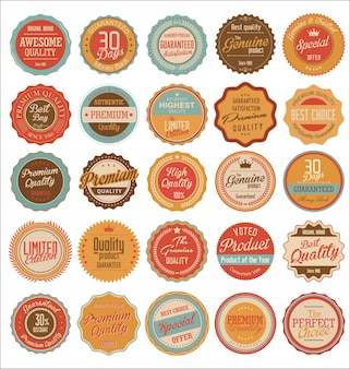 Vintage sale labels collection design elements