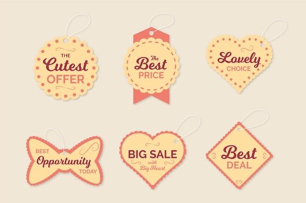 Vintage sale tag collection