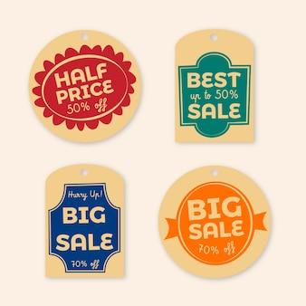 Vintage sale tags pack