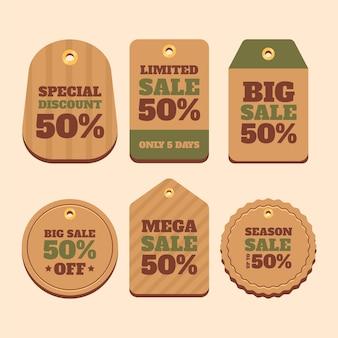 Set di tag di vendita vintage