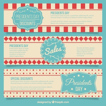 Vintage sales banners president day pack