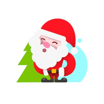 Vintage santa logo for your design and needs. vector illustration. happy new year