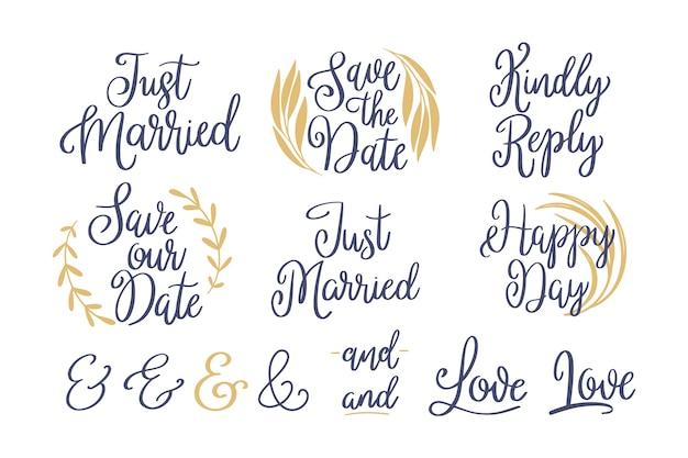 Vintage save the date lettering ensemble