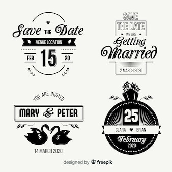 Vintage save the date lettering set