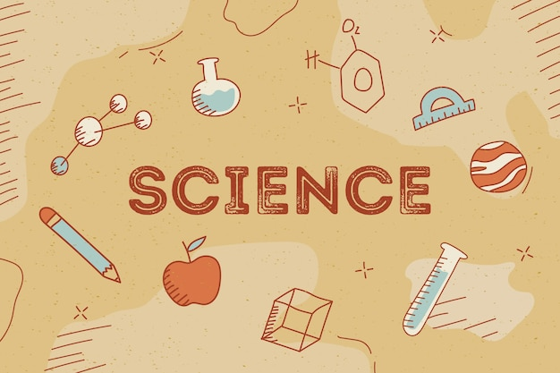 Vintage science background concept