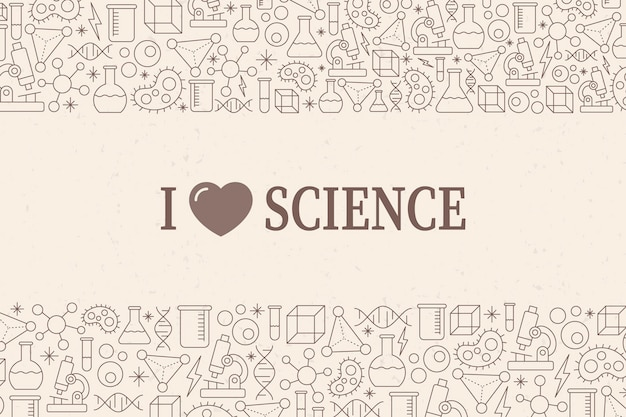 Vintage science background with elements