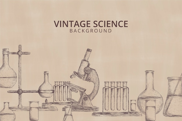 Vintage science background