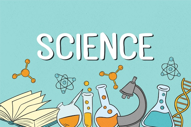 Vintage science education background