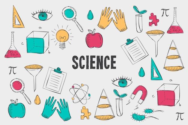 빈티지 과학 교육 배경