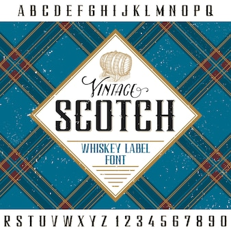 Vintage scotch poster for design and decoration of alcohol drinks