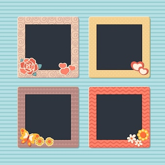 Vintage scrapbook frames collection