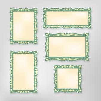 Vintage scrapbook frames