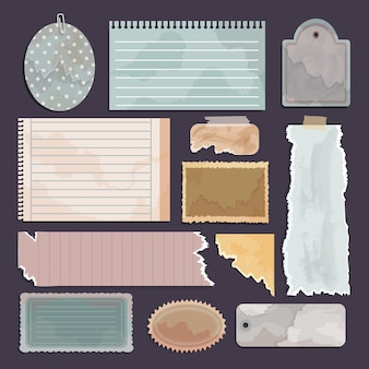 Vintage scrapbook paper collection
