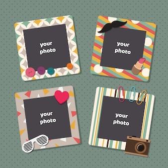 Vintage scrapbook picture frames