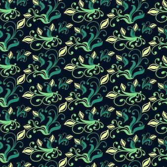 Винтажный бесшовный образец с цветочными элементами. текстура для обоев, фона и заливки страницы. векторная иллюстрация.