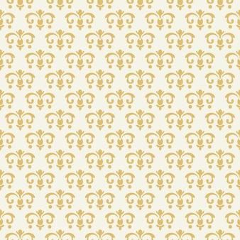 Modello senza cuciture d'annata con l'ornamento dorato. design decorativo, sfondo arredamento, illustrazione vettoriale