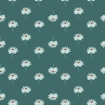 작은 데이지 꽃 장식으로 빈티지 완벽 한 패턴입니다.