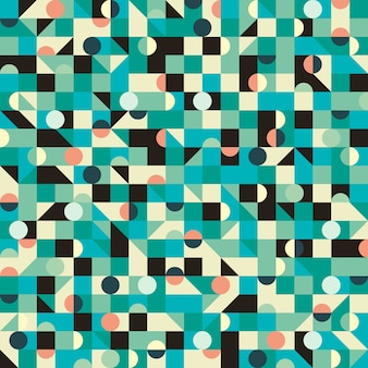 Vintage seamless pattern with triangles and circles