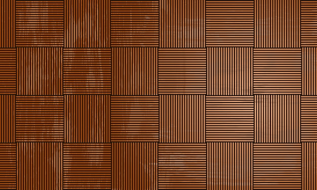 Vintage seamless wooden geometric repeating striped lines squares background