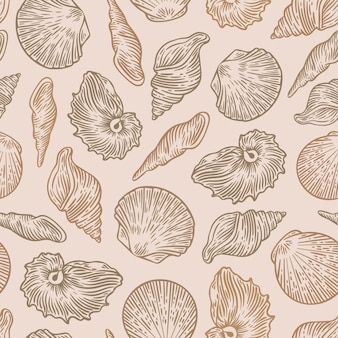 Vintage seashell pattern