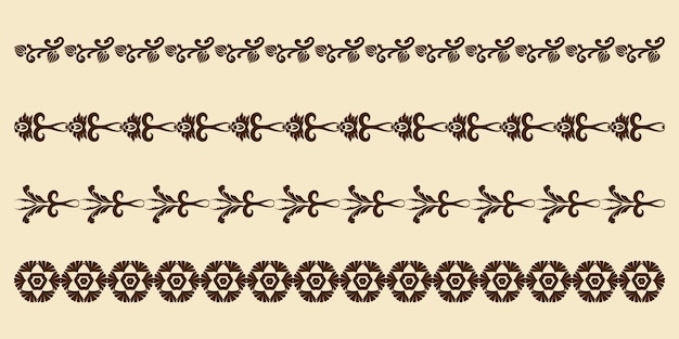 Vintage set of decorative elements for the design of frames menus wedding invitations or labels