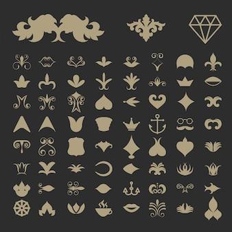 Vintage shapes elements