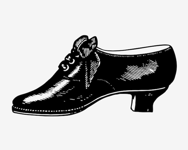 Vintage shoes illustration