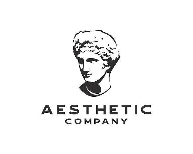 빈티지 실루엣 금성 로고 고대 그리스 신 아폴로 벡터 스케치 그림 로고 디자인