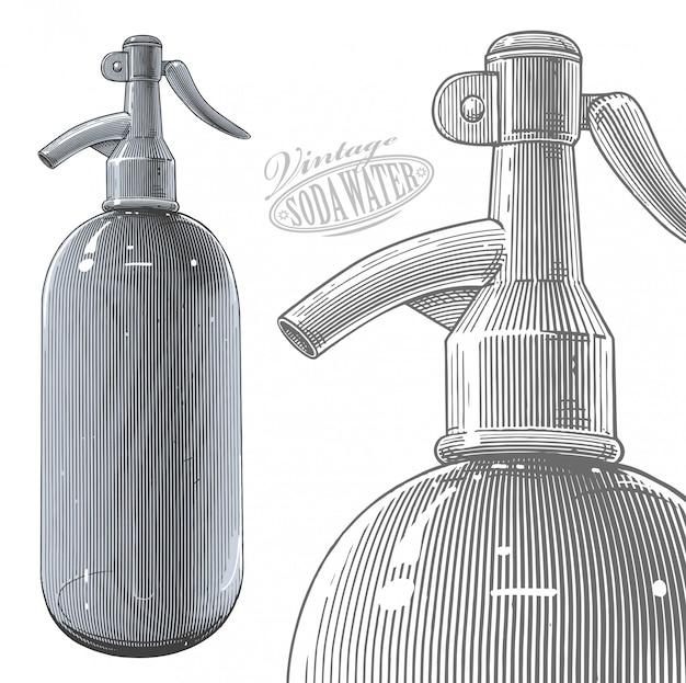 Vintage siphon bottle